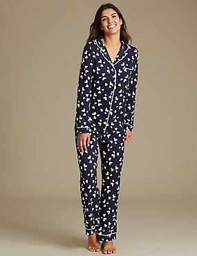 Pure Cotton Heart Print Pyjamas
