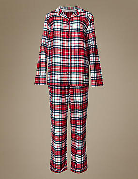 Women's Pure Cotton Checked Pyjamas