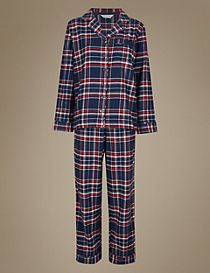 Cotton Rich Checked Pyjamas