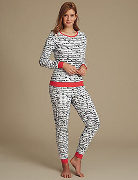 Pure Cotton Minnie Mouse Pyjama Set