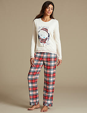Tatty Teddy™ Checked Long Sleeve Pyjamas