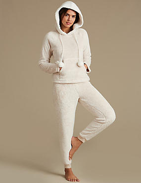 Fleece Hooded Long Sleeve Pyjamas