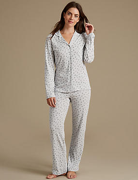 Feather Print Long Sleeve Pyjama Set