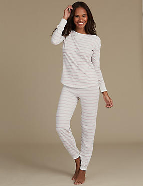 Cotton Rich Striped Long Sleeve Pyjamas