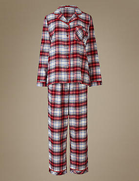 Pure Cotton Checked Long Sleeve Pyjamas