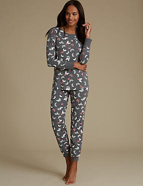 Cotton Rich Printed Pyjamas
