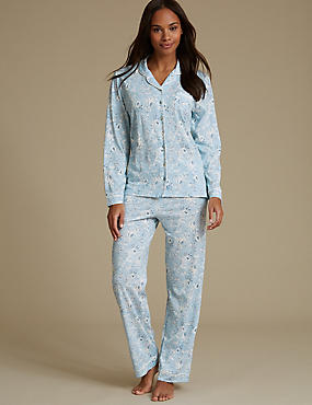 Modal Blend Printed Long Sleeve Pyjama Set