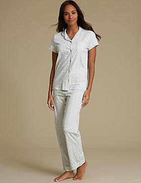 Cotton Rich Sprig Print Pyjamas