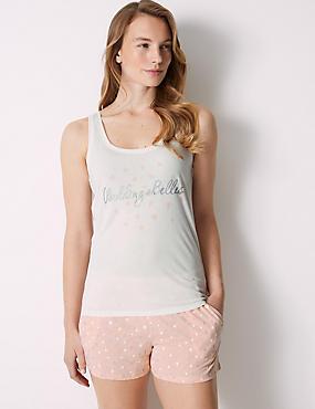 Bridesmaid Printed Short Pyjama Set, SOFT PINK, catlanding