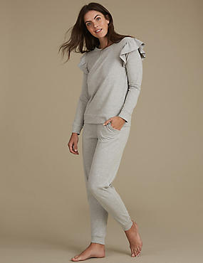 Cotton Rich Ruffle Sleeve Pyjamas