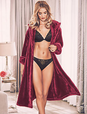 Satin Trim Dressing Gown