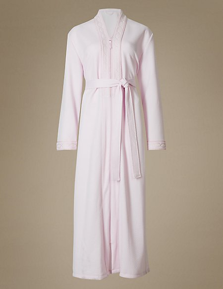 Textired Quilted Dressing Gown | M&S Collection | M&S : quilted dressing gown - Adamdwight.com