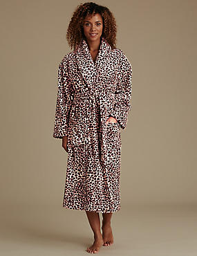Leopard Print Dressing Gown with Belt