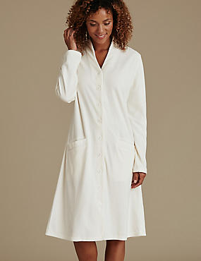 Velour Long Sleeve Dressing Gown