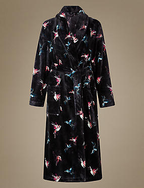 Printed Shimmer Dressing Gown