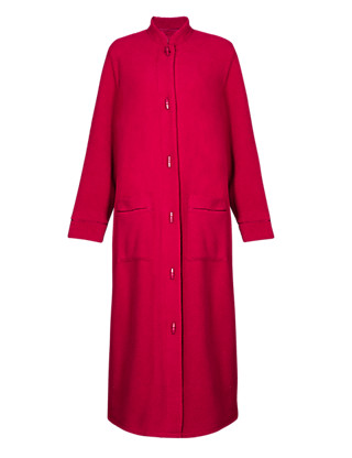 Nehru Collar Duffle Dressing Gown Clothing