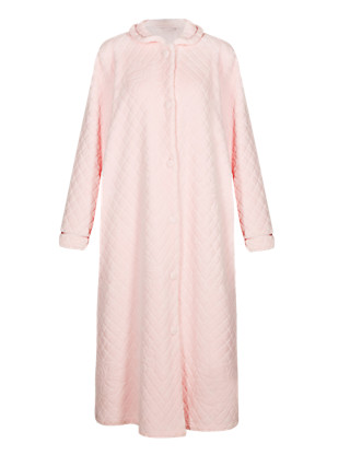 Floral Quilted Dressing Gown Clothing