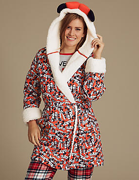 Pure Cotton Minnie Mouse™ Dressing Gown