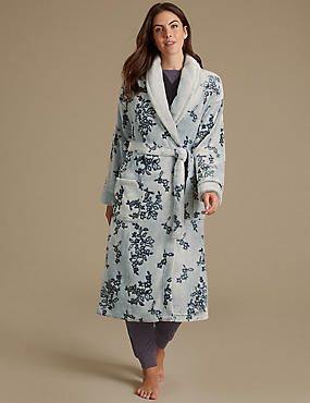 Shimmersoft™ Floral Print Carved Dressing Gown