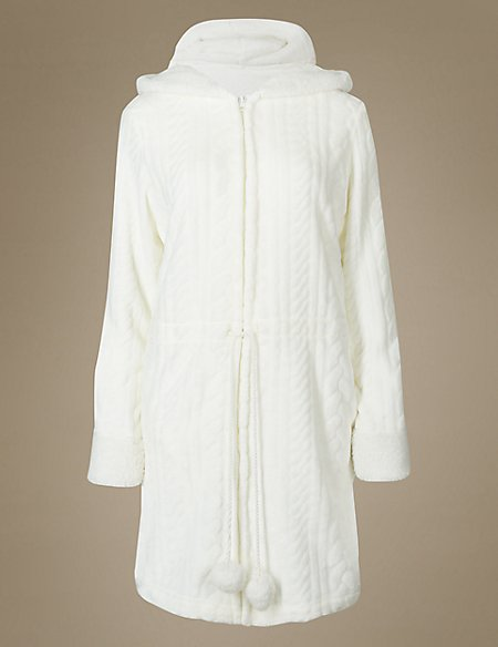 Textured Cable Carved Dressing Gown