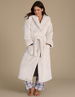 Checked Pyjama Set with Dressing Gown