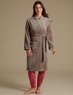 Printed Pyjamas Set with Dressing Gown
