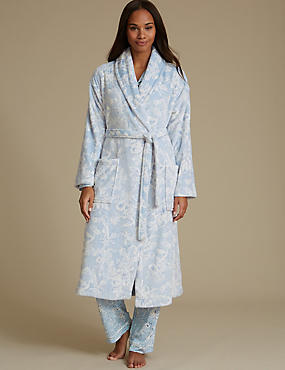 Shimmersoft™ Fleece Floral Print Dressing Gown