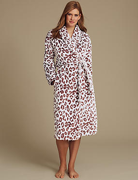 Animal Print Dressing Gown, CHOCOLATE MIX, catlanding