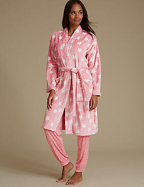 Shimmersoft™ Star Print Dressing Gown