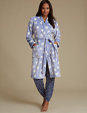 Shimmersoft™ Fleece Star Print Dressing Gown