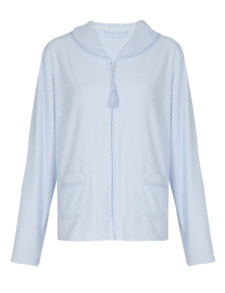 Diamond Towelling Bed Jacket