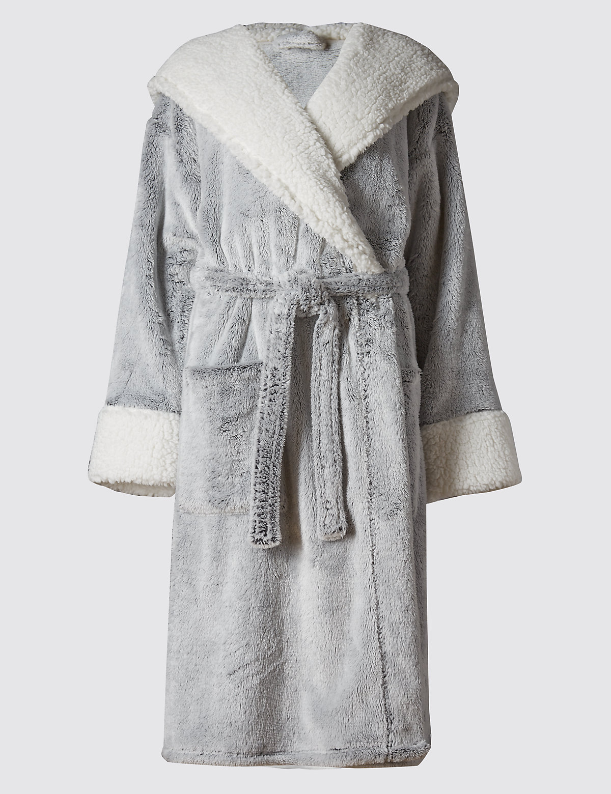 Luxury Hooded Shimmer Dressing Gown | Autograph | M&S