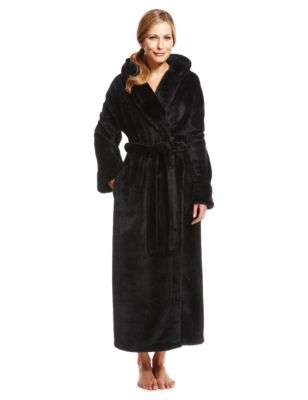 Hooded Shimmer Soft™ Dressing Gown | M