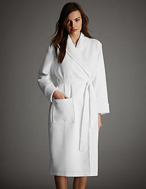 Pure Cotton Luxury Waffle Dressing Gown