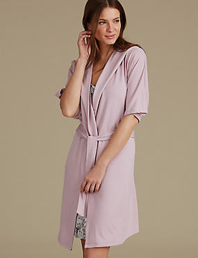 Hooded Wrap Dressing Gown