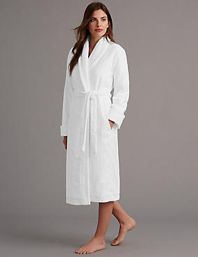 Pure Cotton Luxury Sateen Dressing Gown