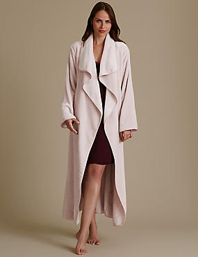 Belted Long Sleeve Dressing Gown