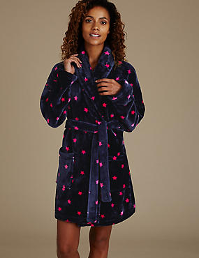 Shimmer Star Print Dressing Gown