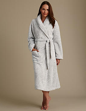 Long Sleeve Belted Dressing Gown