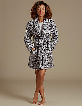 Shimmer Animal Print Dressing Gown