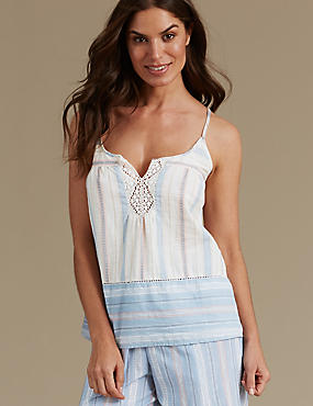 Pure Cotton Camisole Pyjama Top