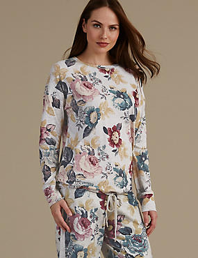 Cotton Rich Floral Print Pyjama Top