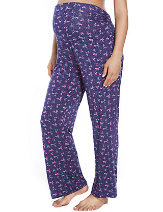Maternity Floral Pyjama Bottoms Clothing