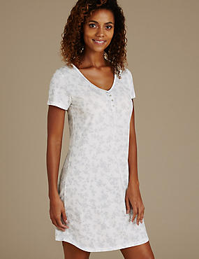 Silhouette Print Pin-Tuck Nightdress with Cool Comfort™ Technology