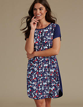 Floral Print Short Nightdress