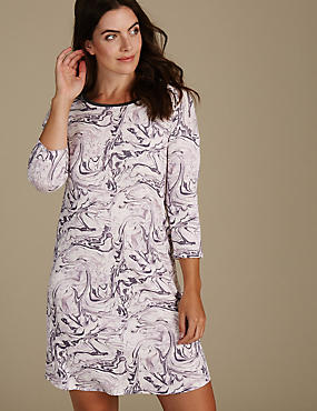 Printed Long Sleeve Nightdress