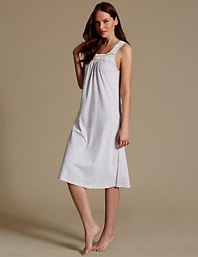 Modal Blend Crochet Trim Nightdress
