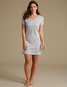 Modal Blend Printed Nightdress