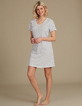 Cotton Modal Blend Printed Nightdress