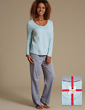 Pure Cotton Long Sleeve Pyjamas